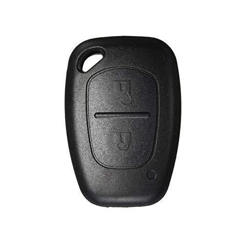 Heart Horse Porte-clés à distance sans clé à 2 boutons Compatible avec Vauxhall Opel Movano Vivaro Renault Traffic Kangoo Nissan Primastar (Sans lame )