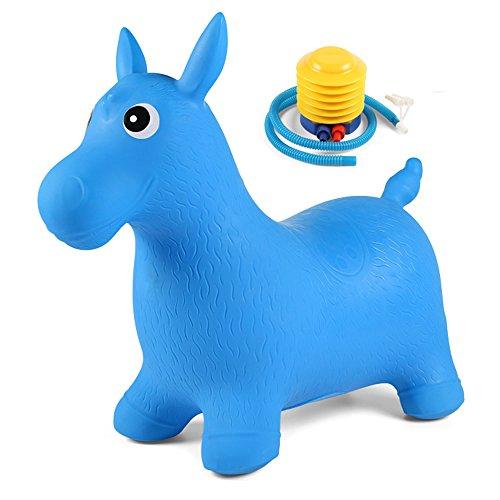Jouets FEI Enfants gonflables Augmentation Epaississants Saut Chevaux Kindergarten bébé Sport Montures, équitation Début Éducation (Couleur : Bleu)