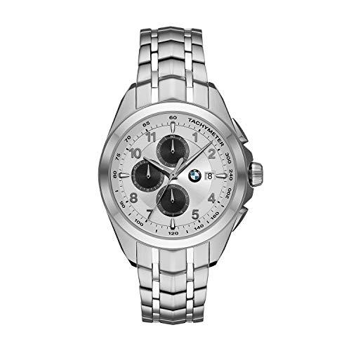 Orologio cronografo da uomo BMW Chronograph in acciaio inossidabile color argento BMW8004