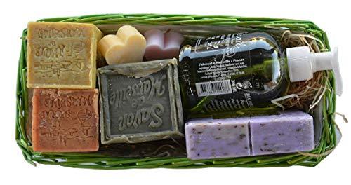 Panier garni du savon de Marseille - Cadeau original femme/fête des mères...