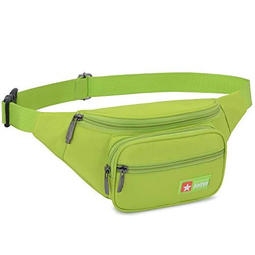 AirZyx wasserdichte Bauchtasche Damen Herren für Reise und Sport, Hüfttasche für Damen und Herren Sport, Bauchtasche Wasserdicht Hüfttaschen für Running (Grün)