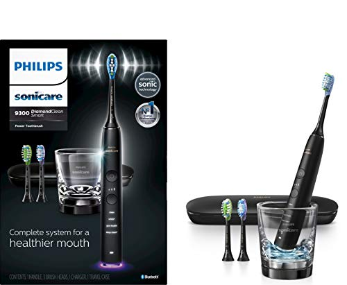 Philips Sonicare DiamondClean Smart 9300 Rechargeable Electric Toothbrush, Black...