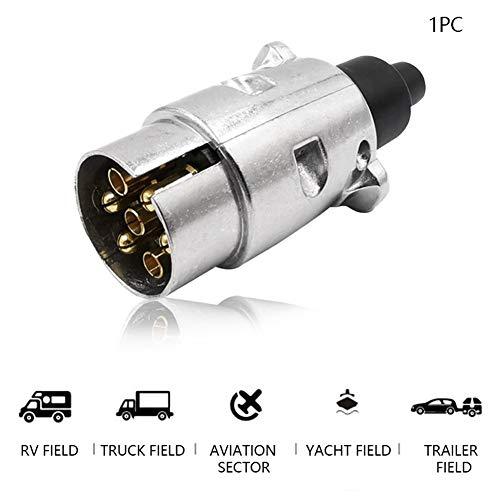 Adaptador de tracción Adaptador de aleación de aluminio Remolque zócalo eléctrico Accesorios Conector 7 Pin norma europea del automóvil 12V Enchufes barra de remolque Medio remolque para vehículos com