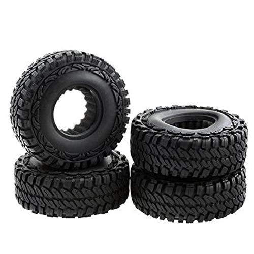 N /A Simulierte Klettern Reifen, 1,9 Zoll, 114Mmx38mm, weiche Reifen Haut, SCX10 4WD HILUX D90, Wrangler Reifen Haut, Vorderrad Plus Hinterrad