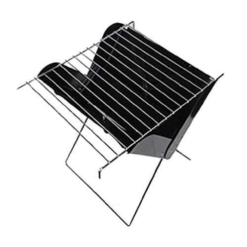LAOLEE Plegable simple X-type portátil barbacoa parrilla de carbón ligero kit de...