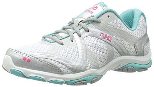 Ryka Women's Influence Cross Training Shoe, Influence/White/Aqua/Pink, 7.5 M US