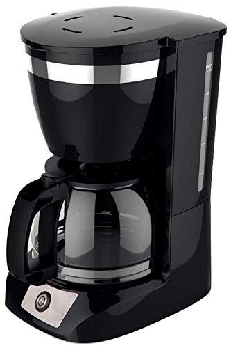 Family Care Cafetera de Goteo, cafetera eléctrica, Jarra 1.25 litros para 10 Tazas, Acero inoxidable y plástico, color Negro, 800 W