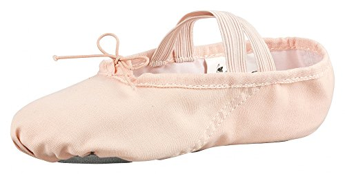 tanzmuster ® balletschoenen meisjes - Dani - volledige zool van suède - zacht en ademend, Roze Abrikoos, 28