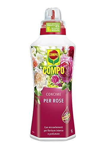 COMPO Concime per Rose, Per fioriture intense e crescita rigogliosa, 1 l
