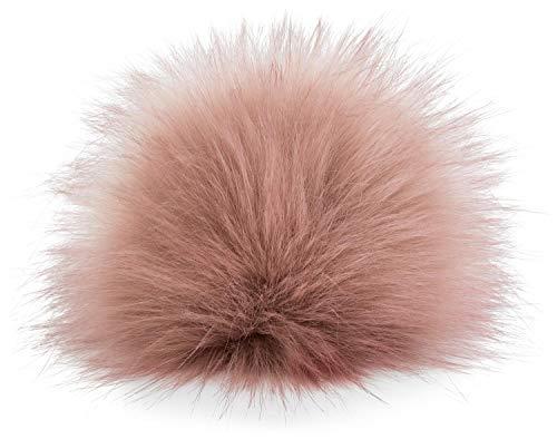 styleBREAKER Kunstfell Bommel für Mützen und Beanies, Fake Fur, Winter Fellbommel 04024161, Farbe:Altrose