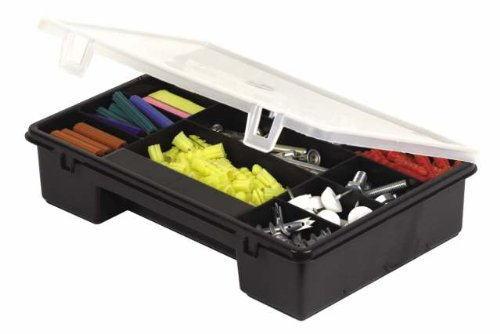 Stanley Werkzeugbox Classic, Komfort-Handgriff (Vorhängeschloss-Öse, herausnehmbare Ablage, 40,6x21,5x18,4 cm) 1-92-766