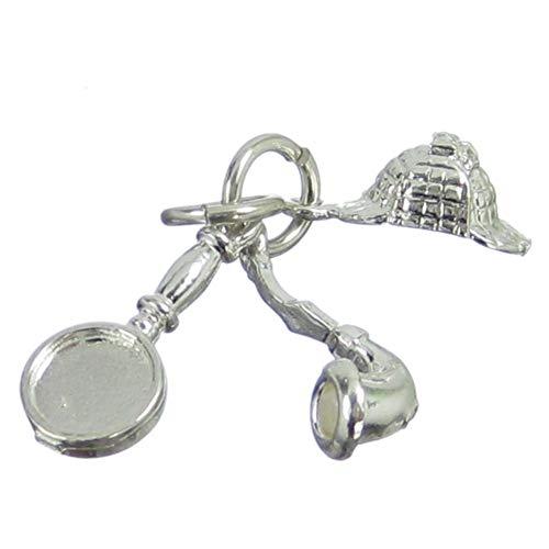 Sherlock Holmes - Abalorio de plata de ley 925 Homes Detective Charms - SFP
