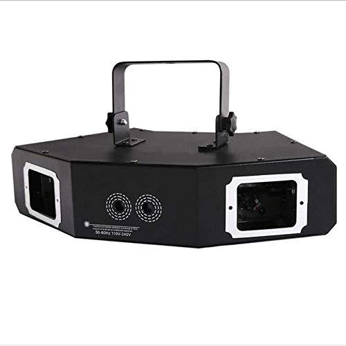 QLIGHA LED Disco Bühnenlichter, Vier-Augen-Fan-förmiges Vollfarbstrahlmuster Sound Control Party Lights Bar Nachtclub KTV Multifunktions-Umgebungsbeleuchtung