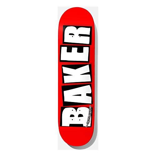 Baker Deck Brand Logo White red/White, White 8.0''