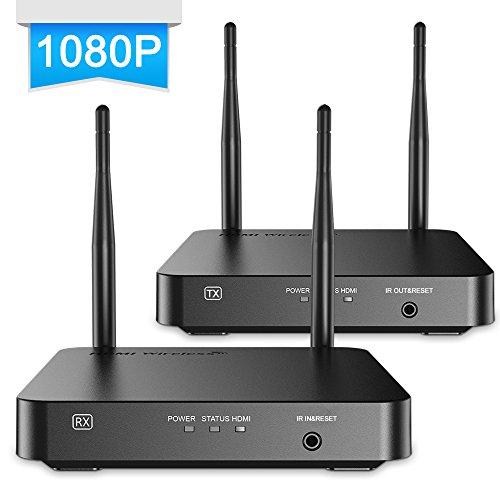 ANNKE Wireless HDMI Extender Set (Empfänger und Sender) für HDMI mit Full-HD 1080p, 328Ft/100m,3D Kabellos, unkomprimiert, Reichweite max. 30m, schwarz