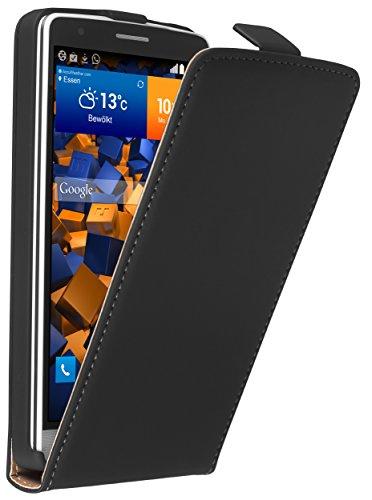 mumbi Flip Case Compatible con LG G3s (Nicht LG G3), Negro