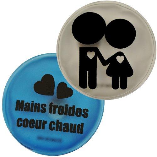 Lot 2 Mini Bouillotte Chaufferette Poche Picto Love