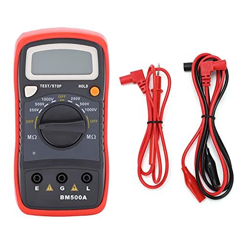 Resistance Tester,BM500A 1000V LCD Digital Insulation Resistance Meter Megohm Meter