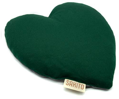 Saco Térmico de Semillas de Trigo y Lavanda Forma Corazón | Bolsa Semillas Lavanda para Microondas | Bolsa de Semillas Calor y Frío | 25x25 cm | Corazón