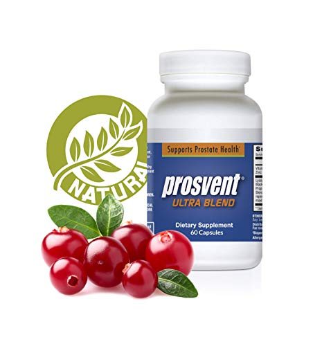 Prosvent Ultra – Natural Prostate Health Supplements for Men – Saw Palmetto, Pygeum, Lycopene, Stinging Nettle, Beta Sitosterol, Pumpkin Seed Oil, and Cranberry. 1 month supply – 60 count