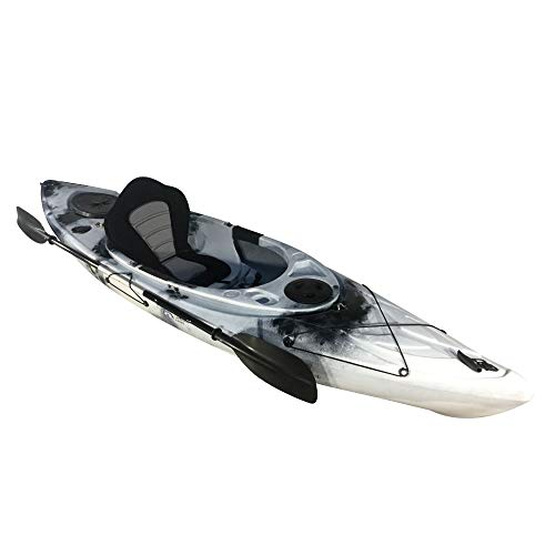 Cambridge Kayaks ES, Herring Negro con Blanco Kayak DE Paseo Y Pesca, RIGIDO,