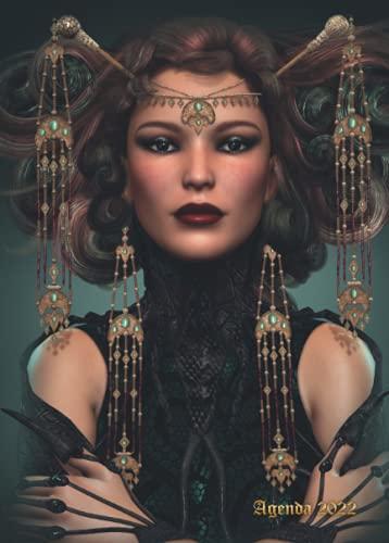 Agenda 2022 : Hada negra: Planificador semanal de septiembre de 2021 a diciembre de 2022 | 16 meses | Pequeño formato A5 | Cubierta tema Magia y Fantasía Heroica