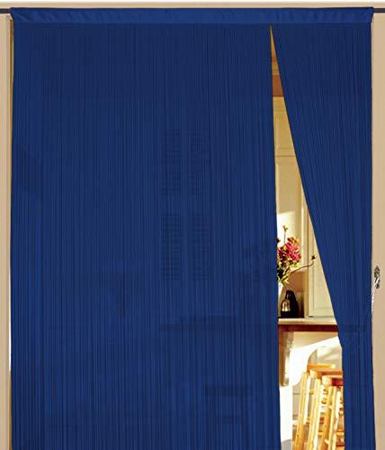 Kaikoon Fadenvorhang 90 cm x 240 cm (BxH) blau