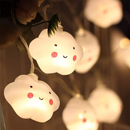 BYJIN 20 LEDs Warmweiß Wolken Lichterketten Feenhafte Nachtlichter für Kinder Scherzt Schlafzimmer Korridor Girlanden Hochzeits Weihnachts Dekoration - Batteriebetrieben (Nicht Enthalten)