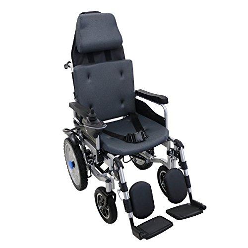 フルリクライニング電動車椅子 グレー TAISコー...