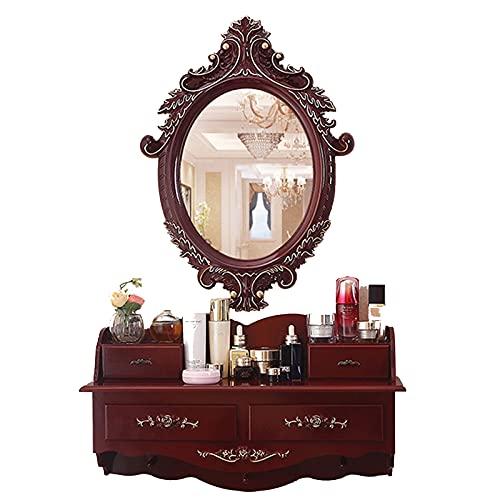 HXGL-Drum Specchio da Tavolo a Muro Specchio da Tavolo Piccolo Appartamento Camera da Letto Moderno Minimalista Stile Europeo Stile Europeo Tabella di spogliatoio