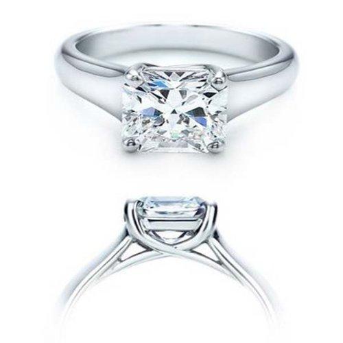Damen Ring IGI Zertifizierte 1.38 Karat 14 Karat Weißgold Princess Schnitt Diamant Damen Verlobungsring Solitaire Ring