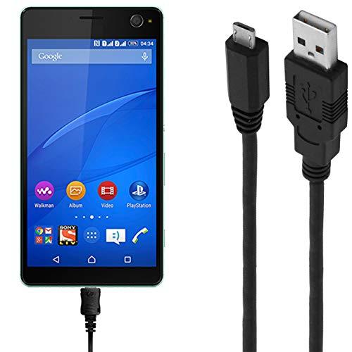 ASSMANN Ladekabel/Datenkabel kompatibel für Sony Xperia C4 - Schwarz - 3M