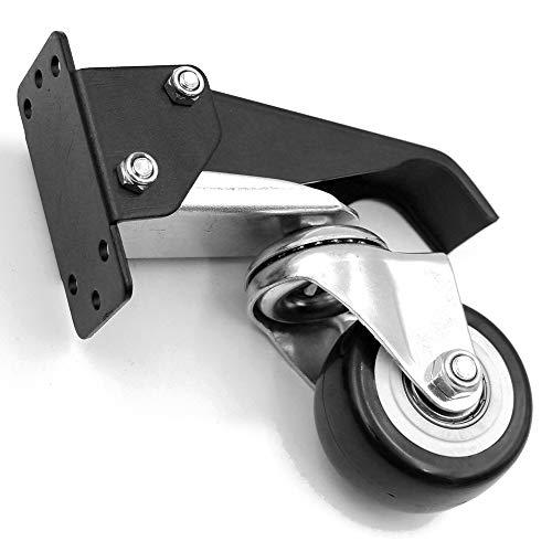 Leeofty Ruedas móviles de aleación de aluminio Ruedas de banco de trabajo Maniobrabilidad de 360 grados Carpintería Herramientas de bricolaje