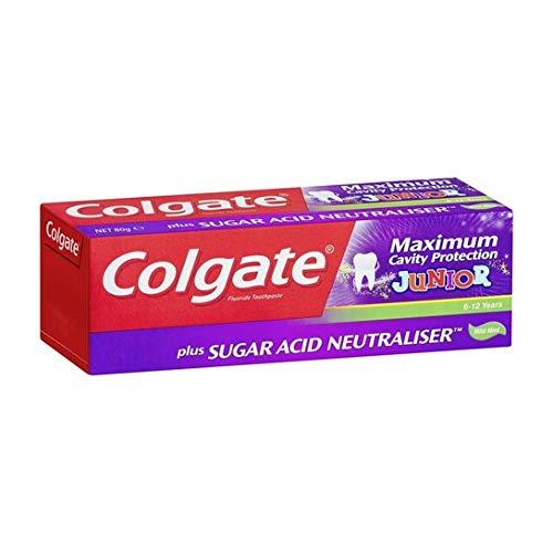 Colgate Maximum Cavity Protection Plus Sugar Acid Neutraliser Mild Mint Junior 6+ Toothpaste 2 x 50 ml