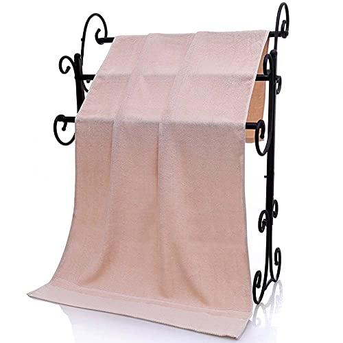 WANGIRL Extragrande Toalla de Baño Algodón de Fibra Natural Altamente Absorbente Suave Sábanas de Baño Hoja de Baño de Lujo Hogar los Baños la Piscina y el Gimnasio 140 * 70cm (Color : C Pink)
