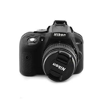 kinokoo Silicone Cover for Nikon D5300 Camera Protective Case Rubber Black