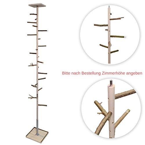 Zimmerhoher Kletterbaum HiFly Basic für Wellensittich, Nympensittich & Co.! Wahnsinns Vogelspielplatz zum Aufhängen von Vogelspielzeug