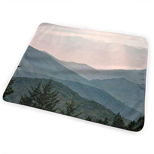 Matelas À Langer,Matelas À Langer Confortable Smoky Mountain Pastel Sunset Pour Garçons Et Filles 65cmx80cm