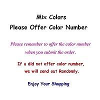 毛糸 編み物の柔らかいセータースカーフシルクコットン混紡糸かぎ針編み3.5mmファッション -5pcs Mix Color