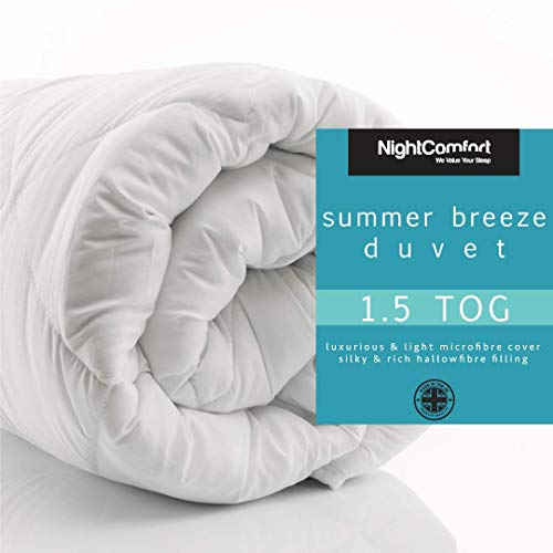 Night Comfort Anti Allergy Summer Microfibre Soft Touch Hollowfibre Duvet (1.5 tog, King Size)