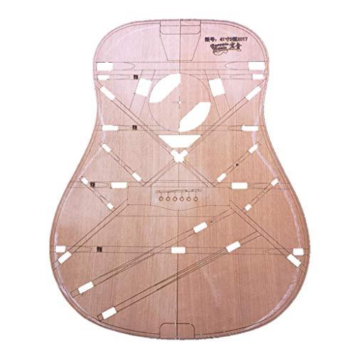 chiwanji Fabricación de Barril Tipo D de Madera Modelo para Constructor Amante de La Música de Guitarra Popular de 41