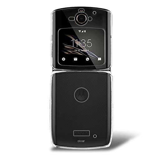 Olixar Schutzhülle für Motorola Moto Razr 2019, Clear Stoßfest Transparent Bumper Cover - Hard Slim Rahmen mit Fallschutz - Anti-Scratch Clear Back - Clear