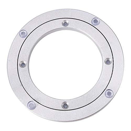 Tischlager - Hochleistungs-Drehscheibe aus Aluminiumlegierung mit rundem Esstisch, runder Esstisch, glatte Drehplatte(6寸*H8.5MM)