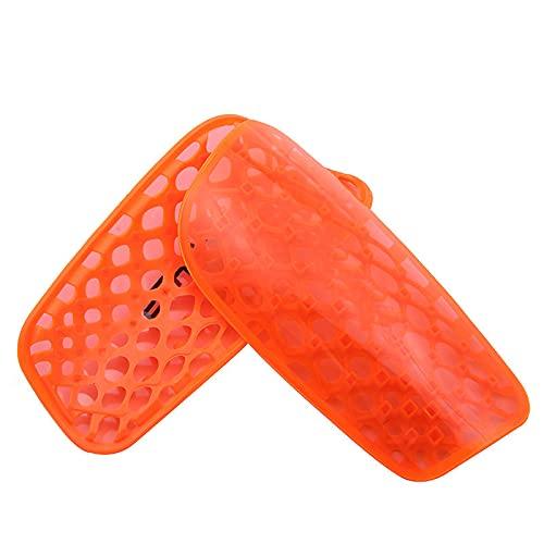 YYQQ Espinilleras para Adultos,Perforadas,Transpirables,para fútbol,Juegos,piernas,pantorrillas,Equipo Protector,Rojo