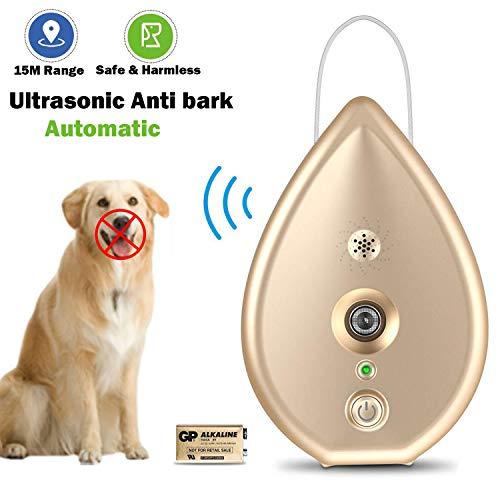 XKPET Dispositivos Antiladridos para Perros, Ultrasónico Adiestramiento Automático, Entrenamiento de Perros y Control De Ladridos, 100% Seguro, Uso en Interiores Rango 15m