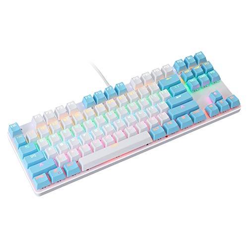 Meccanico K100 Due Colori Verde Asse Tastiera Impermeabile Gaming Keyboardfor Windows Mac Giochi Compact 60% Tastiera di Gioco Bianco