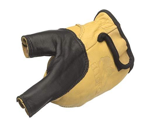 elToro Bogenhandschuh schwarz-gelb für die linke Hand (XL) Zubehör beim Bogenschießen, für Pfeil und Bogen