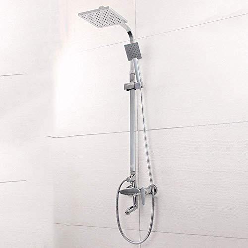 ZUQIEE Juego de ducha de acero inoxidable gran ducha supercargado ducha superior spray caliente y fría grifo lluvia durable