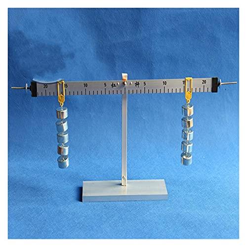 FHISD Báscula y Soporte de Palanca de aleación de Aluminio con balanza de Palanca científica Primaria con Juego de experimentos de mecánica física de Peso de 50g * 10 Piezas