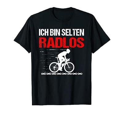 Herren Fahrradfahrer MTB Radfahrer Sprüche Fun Selten Radlos T-Shirt